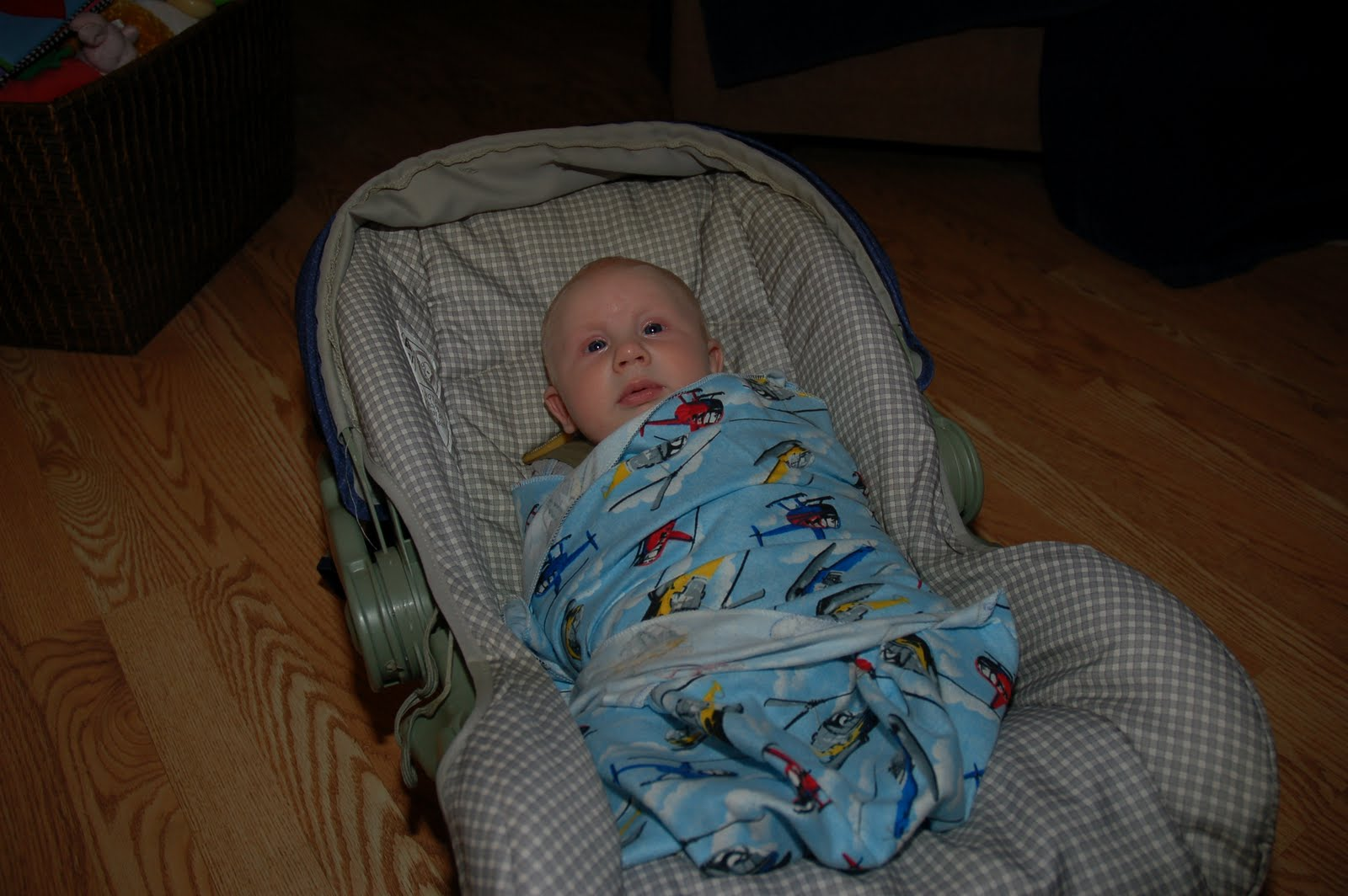 Infant Car Seat Swaddle Blanket Blanket in The Car Seat at