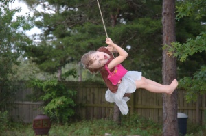 And Jessica LOVES the rope swing her daddy made for her!!!