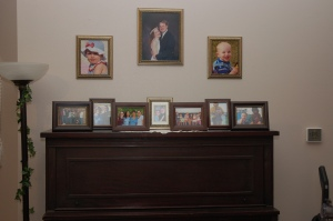 A couple years ago, I placed pictures on the top of our piano of people Jessica could call by name. I found it particularly encouraging to walk by their pictures every day because it reminded me that there were quite a few people that were very important to Jessica and that Jessica was very important to those people.